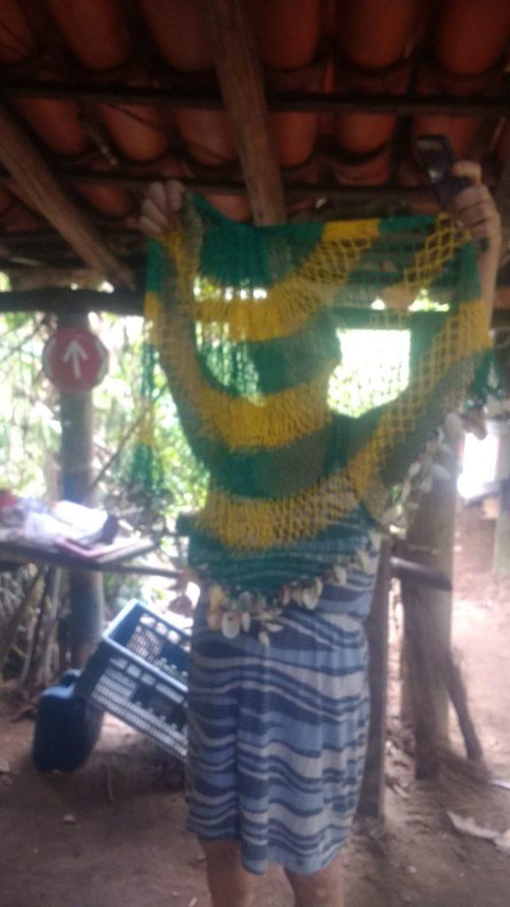Filet circulaire décoratif fait par un ami pêcheur, Brésil