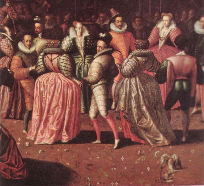 Henri III au bal, quelles teintes!
