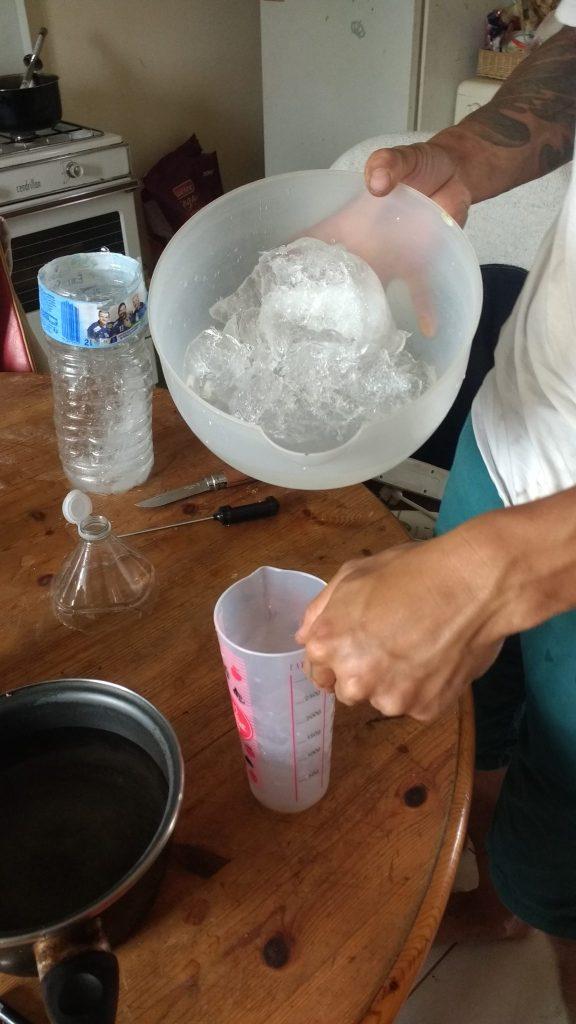 eau pour le savon