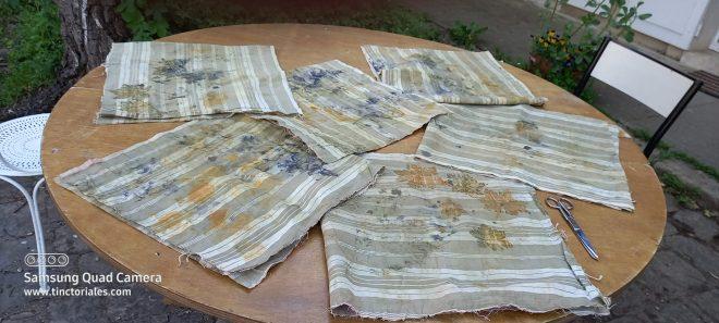 découpe des ecoprint pour faire des sacs