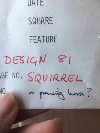 Squirrel or prancing horse