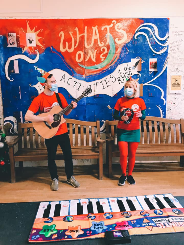 Rhys Gilchrist and Hailey Beavis Performing at Edinburgh Children's Hospital