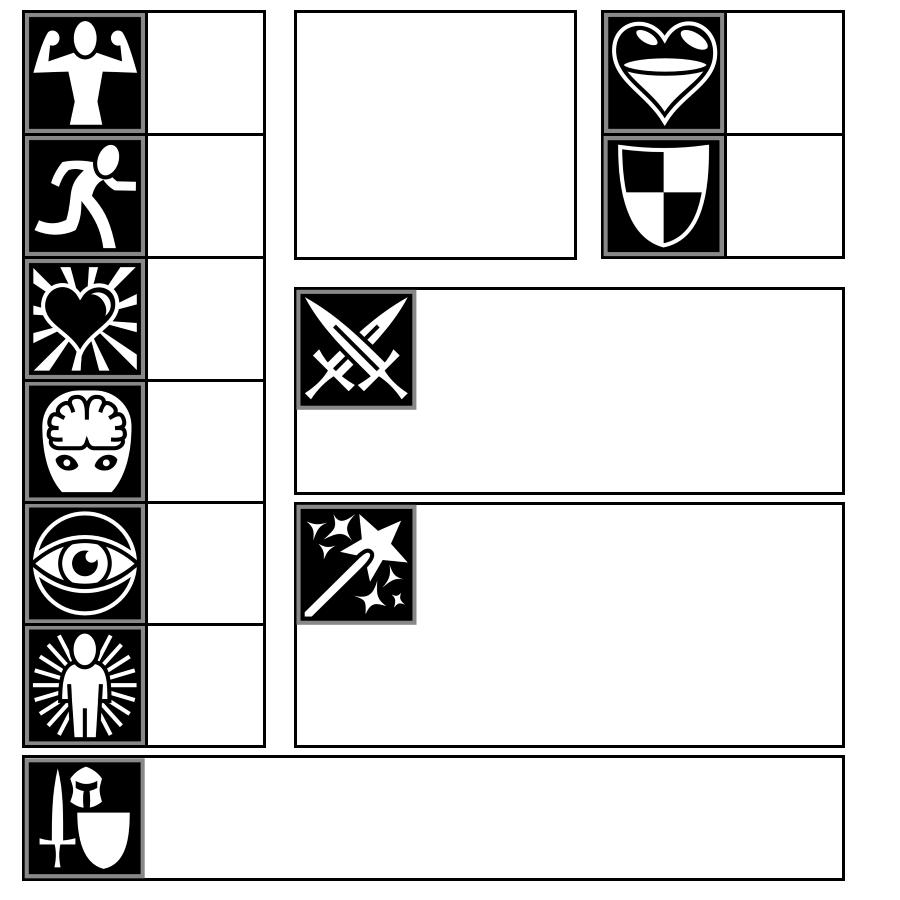Simple Visual Character Sheet