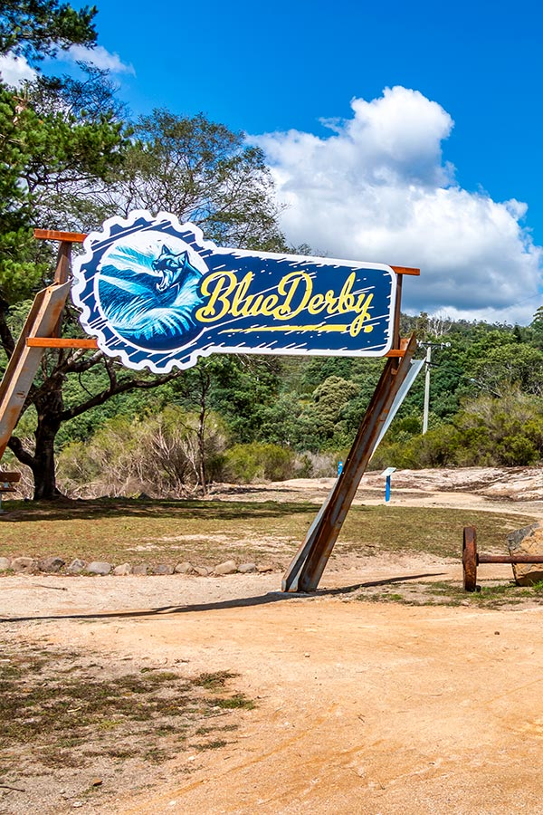 Blue Derby Trail Head with large entrance sign