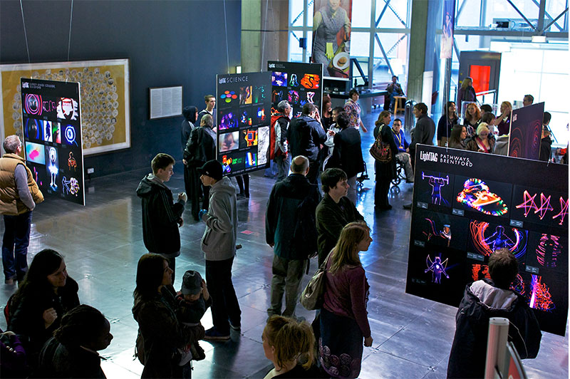 LightTAG Arts And Science Project For Young People Culminating In Exhibition At BFI, London -by Tine Bech Studio