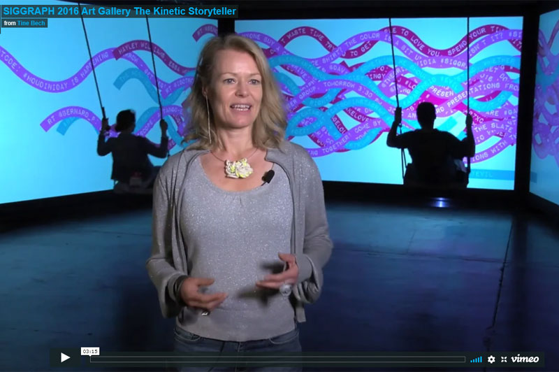 Video Interview With Artist Tine Bech At SIGGRAPH