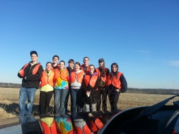 Brothers of Alpha Phi Omega after cleaning up Rt. 34 outside of Gettysburg, Pa.