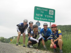 Day 5: Entering New York for Ithaca. Aren't we a classy looking bunch?