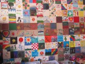 As part of camp each camper makes a tile before they leave.