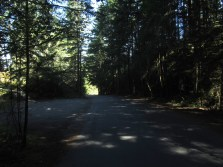 It's difficult to tell, but this is looking down the hill. At it's steepest, the grade surpassed 30%!