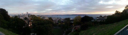 View of Puget Sound from atop Queen Anne.