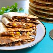 Black Bean Quesadillas - my first Budget Bytes recipe. It was very good and I put a few tacos in aside for the freezer. Hope they turn out well!