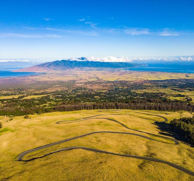 All twists and turns but no guard rails. The windy road to the Haleakalā Crater Summit is especially fun to drive at night, Haleakala Crater – Maui, Hi,