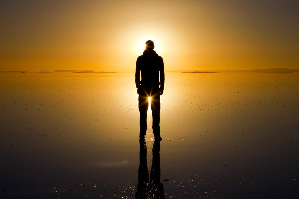 Sunrise in Uyuni salt desrt