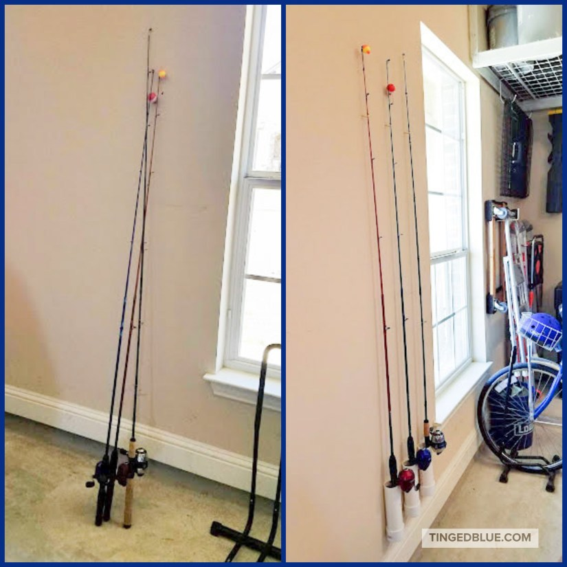 Easy Fishing Rod Holder Diy Tinged Blue