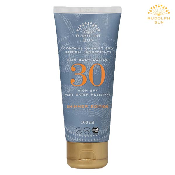 Rudolph Care - sun body lotion - faktor 30 - shimmer edition - spar 25%