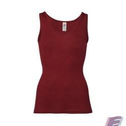 Engel top - uld undertrøje her i farven Malve en flot rød farve