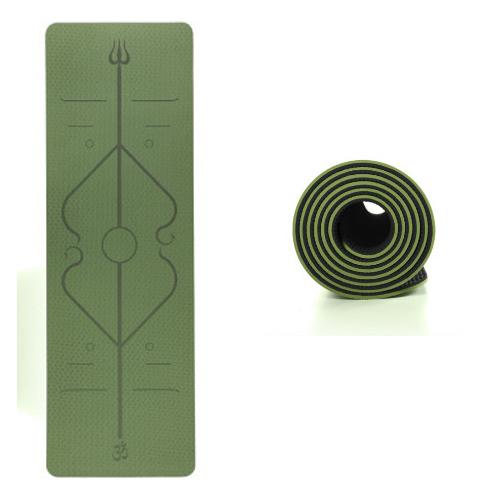Yogamåtte 6mm her i grøn og sort. kr 299