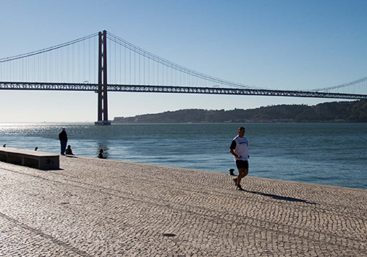 THE BEST WAY TO STAY FIT IN LISBON IS JUST OUTSIDE YOUR HOTEL: OPEN THE DOOR AND RUN