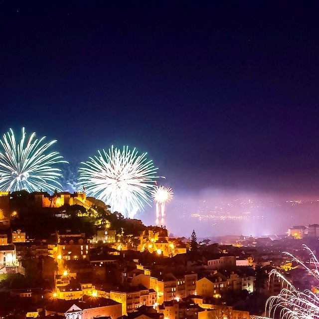 Castollo with New Years Firoworks