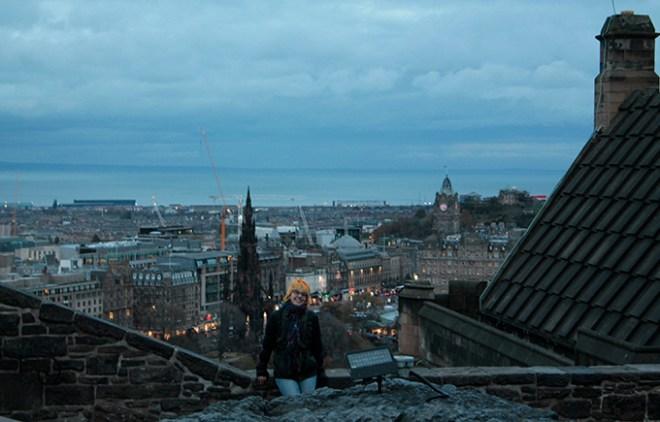 Vista da cidade olhando lá de cima de Castle Rock