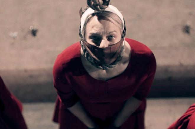 June com uma mordaça - The Handmaid's Tale