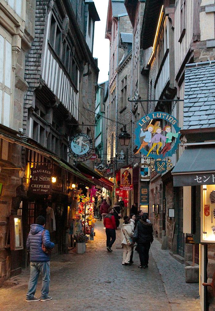 Ruas de Monte Saint-Michel