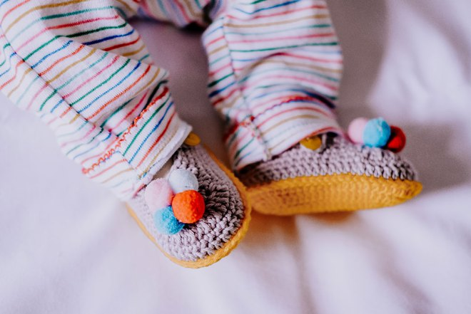 Sapatinhos de crochê pra bebê