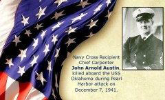 Memory and Sacrifice of USS Oklahoma Sailor John Arnold Austin Honored at National Memorial Cemetery of the Pacific