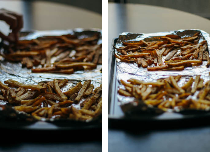 Fries side by side