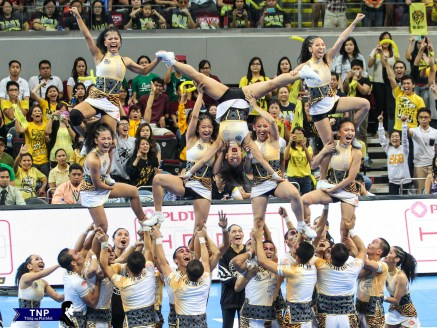 The UST Salinggawi Dance Troupe finished second to the NU Pep Squad with 651.5 points.