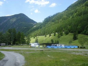 103 D2 rough camp at La Peuty
