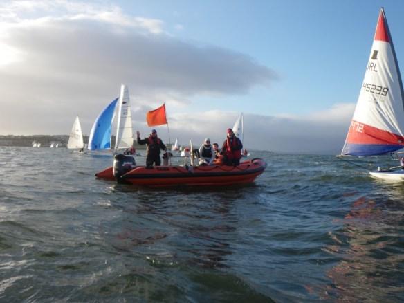 Committee Boat, Robin Gray, Ballyholme Yacht Club Icebreaker Series