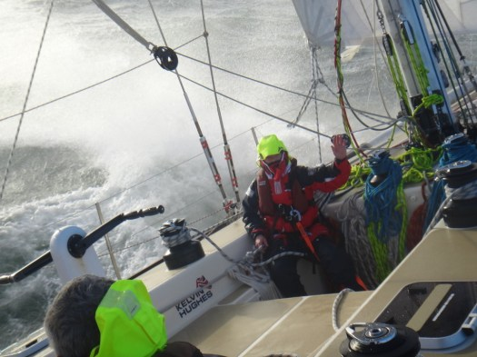 clipper 13-14 race, sailing, crew training, qingdao, rough seas