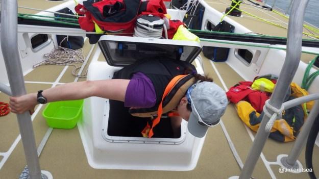 clipper 13-14 race, crew training, clipper 70, escape hatch