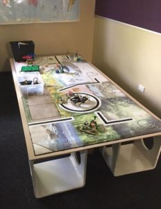The Competition Table Mat Was Also In Box And There Our First Challenge To Find A Big Enough Place It On After Quotes For Building One