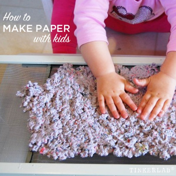Making paper with kids - so easy!
