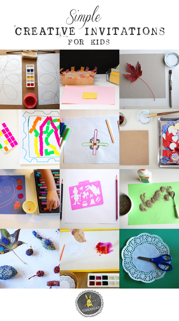 Simple Creative Invitations Creativity For Kids TinkerLab