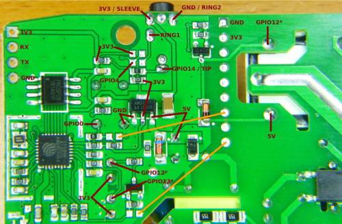 small resolution of named pads headers and test points in the sonoff th10 board