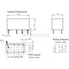 Double Pole Relay Wiring Diagram Marine Fuse Panel 3 49 5v Dpdt Tinkersphere