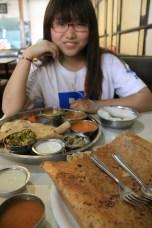Jancyjin thali in moja masala dosa