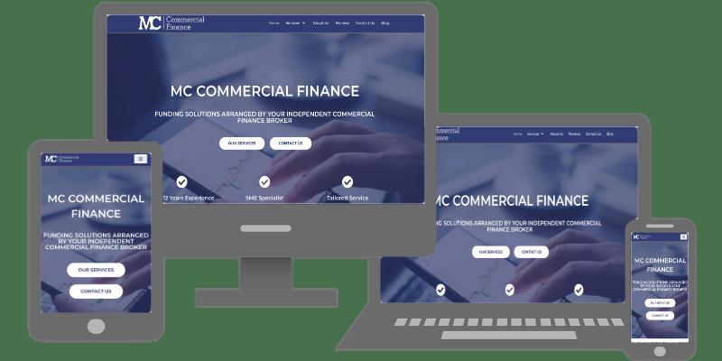 MC Commercial Finance responsive website