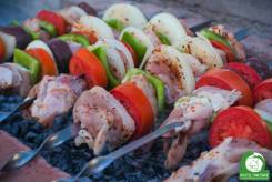 Barbecue; Russian; Shashlik; grill; kebab; meat; skewer; vegetables; beef; pork; shashlick; barbeque; skewers; pieces; traditional; asiatic; cuisine; carbon; fire; turkish; dish; smoke; heat; coal; appetizing; food; shish; charcoal;