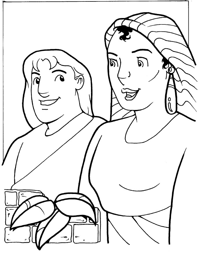 Bible Story Coloring Pages Naaman