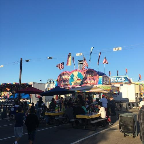 Funnel Cake Booth at Tinley Park Oktoberfest Carnival