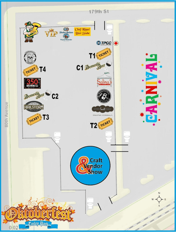 Layout of Tinley Park Oktoberfest