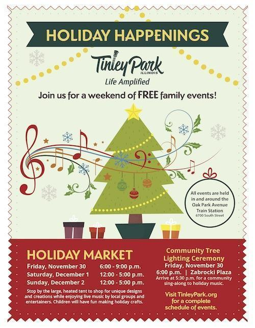 2018 Tinley Park Holiday Flyer Page 1