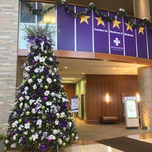 Silver Cross Hospital Lobby Decked Out For Christmas 2018