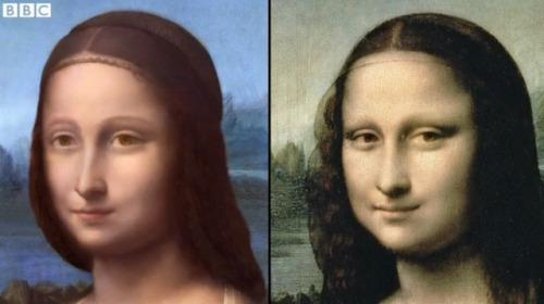 Mona Lisa Painting Underneath the Original