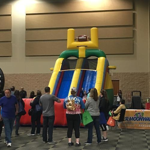 Inflattable Slide at Discover Tinley 2019
